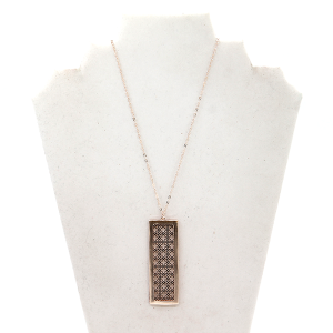 Necklace 1833E 78 Project rectangle geometric rose gold