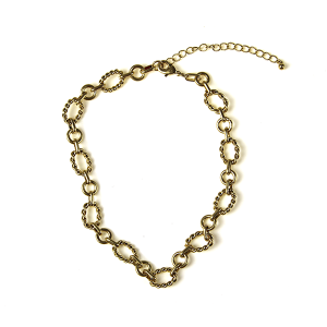 Necklace 176a 10 Avec collar chain necklace gold