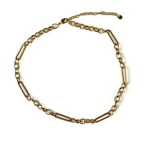 Necklace 222d 10 Avec chain necklace collar gold