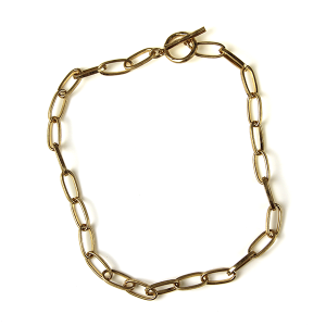 Necklace 163a 10 Avec collar chain necklace toggle gold