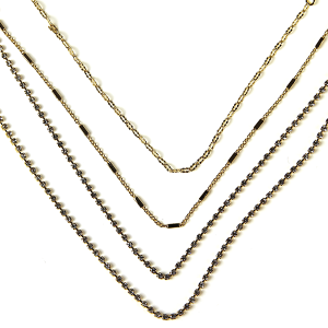 Necklace 103a 10 Avec multilayer rhinestone necklace gold