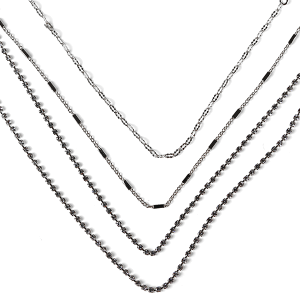 Necklace 114b 10 Avec multilayer rhinestone necklace silver