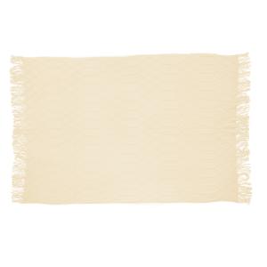 Solid Blanket Tassels Ivory