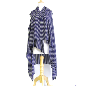 Shawl 694a Striped Cover Up navy