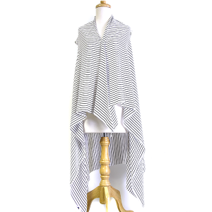 Shawl 698a Striped Cover Up white