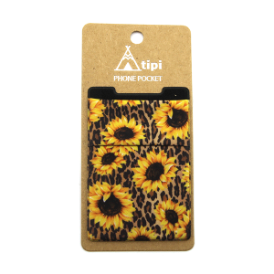 Phone Pocket 027a 12 Tipi leopard sunflower