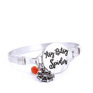 Bracelet 829 12 Tipi Itsy Bitsy Spider Silver