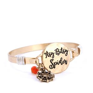 Bracelet 828 12 Tipi Itsy Bitsy Spider Gold