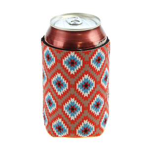 Drink Sleeve 053 12 Tipi geometric red
