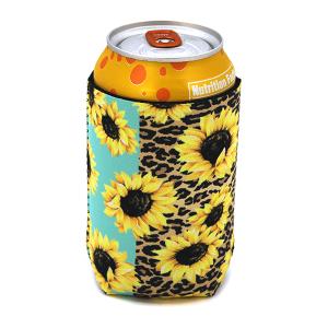 Drink Sleeve 055b 12 Tipi leopard sunflower mint