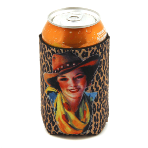 Drink Sleeve 023a 12 Tipi leopard cowgirl