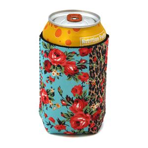 Drink Sleeve 063 12 Tipi floral leopard