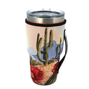 Tumbler Sleeve 012a 12 Tipi cactus landscape