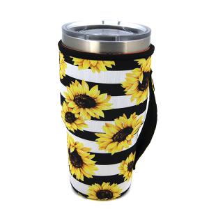 Tumbler Sleeve 074 12 Tipi stripe sunflower
