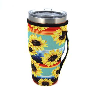Tumbler Sleeve 077 12 Tipi serape sunflower