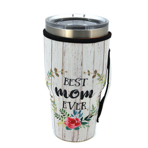 Tumbler Sleeve 076 12 Tipi floral best mom ever