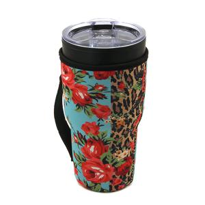 Tumbler Sleeve 125a 12 Tipi floral leopard