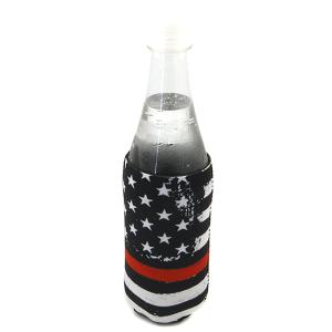 Bottle Cooler 067a 12 Tipi red line USA Flag