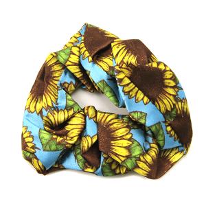 Hair Tie 225 12 Tipi sunflower scrunchie
