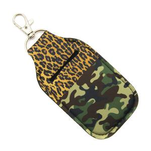 Hand Sanitizer Keychain Pouch 108 leopard camo