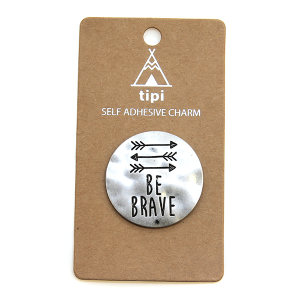 Phone Charm 043 Sticker 12 Tipi be brave silver