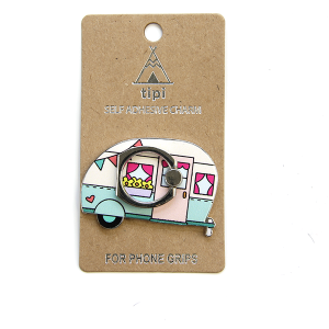 Phone Charm 020c 12 Tipi Phone Stand Ring happy camper