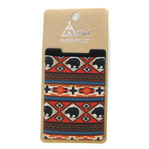 Phone Pocket 001a 12 Tipi geometric bear