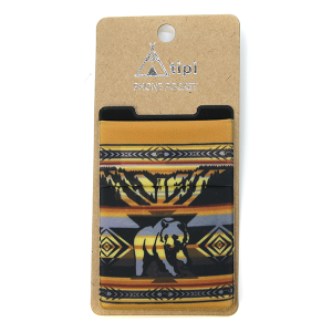 Phone Pocket 015a 12 Tipi bear geometric brown