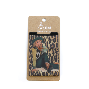 Phone Pocket 009a 12 Tipi Leopard Cowgirl