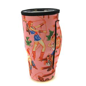 Tumbler Sleeve 033b 12 Tipi Western Cowgirl Pink