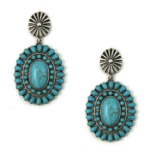 Earring 662h 12 Tipi stud dangle navajo style earrings turquoise