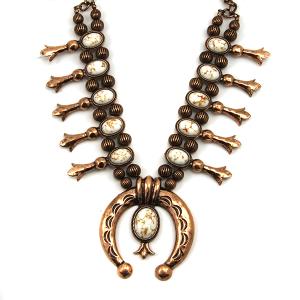 Necklace 423b 12 Tipi Navajo Stone Necklace