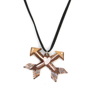 Necklace 425 12 tipi string rustic necklace arrows