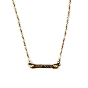 Necklace 2085 12 Tipi bar wire love necklace gold