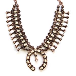 Necklace 733 12 Tipi navajo stone necklace copper white