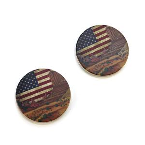 Car Coaster 018a 12 Tipi USA American Flag Desert