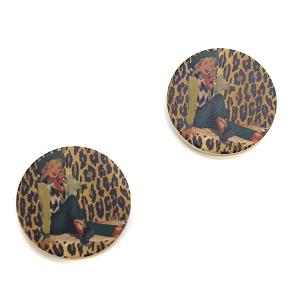 Car Coaster 008c 12 Tipi Leopard Cowgirl
