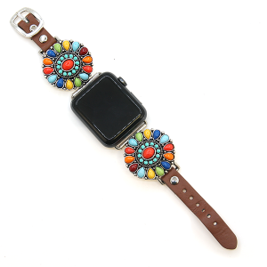 Watch Band 072a 12 Tipi western rustic concho watch band 38-40mm