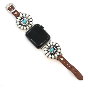 Watch Band 075a 12 Tipi western rustic concho watch band 38-40mm