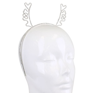 christmas hair 004c 16 hairband antlers crystal silver