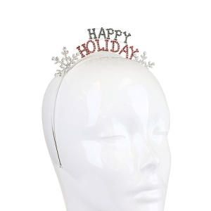 christmas hair 010d 16 hairband happy holiday snowflake multi