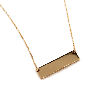 Necklace 2222 16 Crystal Avenue blank bar necklace gold