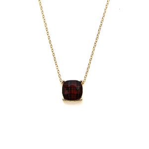Necklace 395d 16 Crystal Avenue plaid checkered necklace red