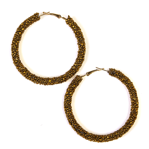 Earring 830 16 Crystal Avenue bead hoop earrings gold