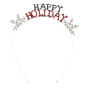 hair 038 16 Crystal Avenue Headband HAPPY HOLIDAY multi