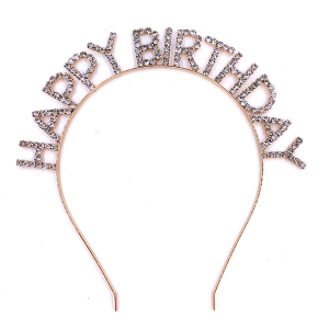 hair 028 16 Crystal Avenue HAPPY BIRTHDAY gold