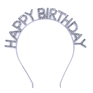 hair 029 16 Crystal Avenue HAPPY BIRTHDAY silver