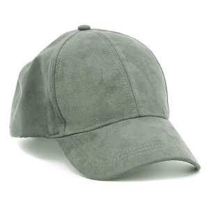 Cap 258 Solid Simple Suede hat dark green