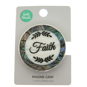 Phone Grip 036a 17 Jolli Molli round opal faith