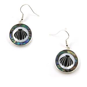 Earring 3450 17 Jolli Molli abalone earrings seashell
